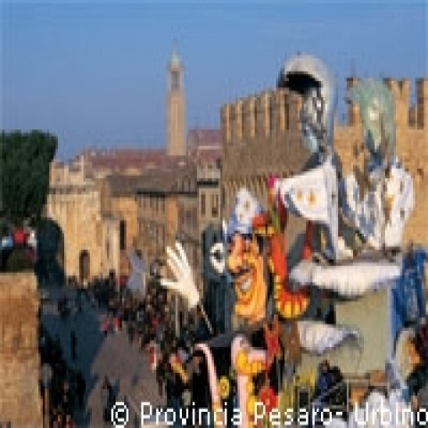 The Carnival in Fano near Urbino Italy
