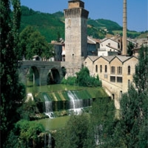 A view of Fermignano near Urbino Italy