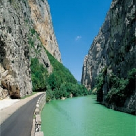 The Furlo river gorge close to Urbino Italy