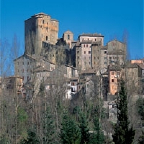 A view of Sassocorvaro near Urbino Italy
