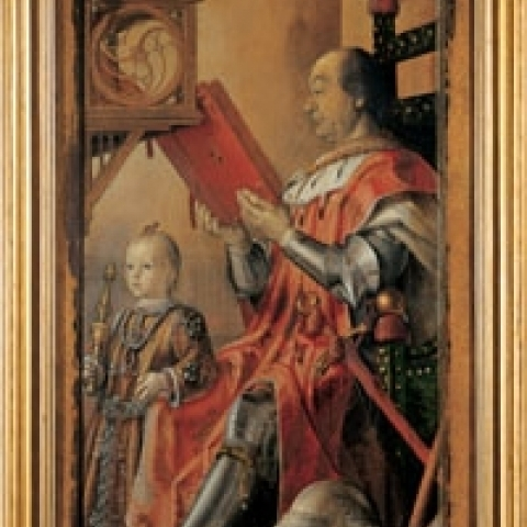 Portrait of Federico da Montefeltro by Berruguete in Ducal Palace Urbino Italy