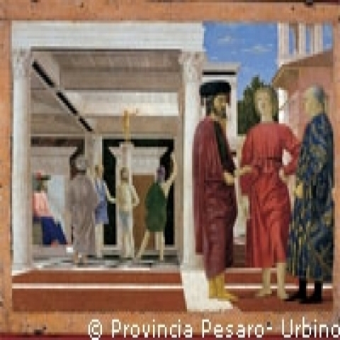 The Flagellation by Piero della Francesca in Ducal Palace Urbino Italy