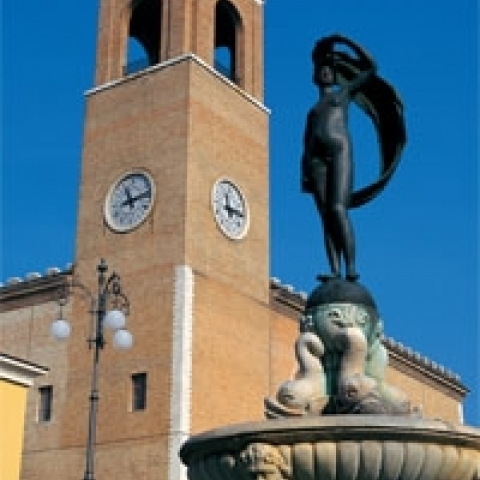 The Fortuna square in Fano near Urbino Italy