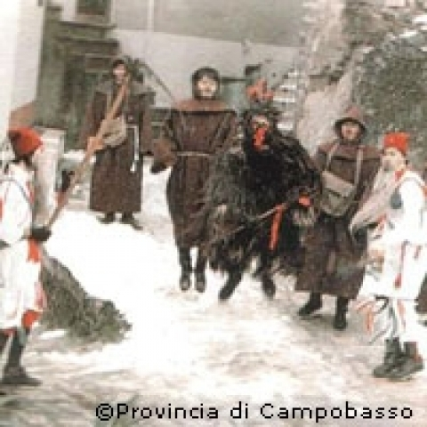Traditional folklore nerby Campobasso Italy