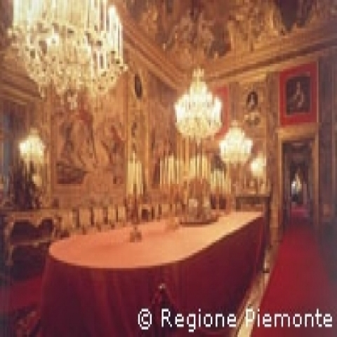 Dining room at the Palazzo Reale Piedmont Italy
