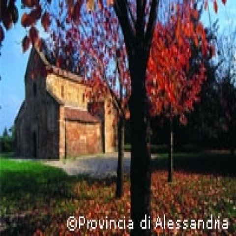 Little church in the countryside Piedmont Italy