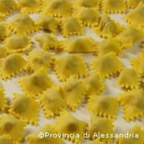 Typical handmade ravioli Piedmont Italy