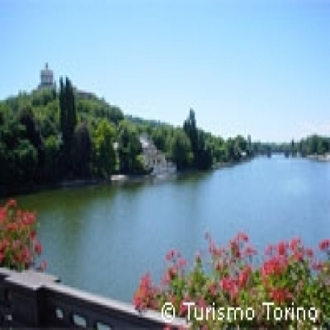 View on the Po river in Turin Piedmont Italy