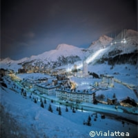 Sestriere in the Alps Piedmont Italy