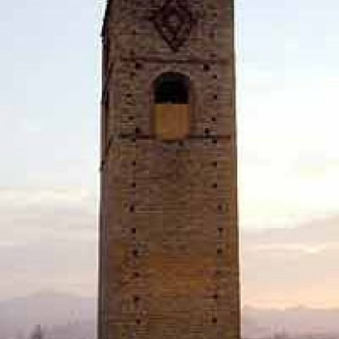 Medieval tower in Alba Italy