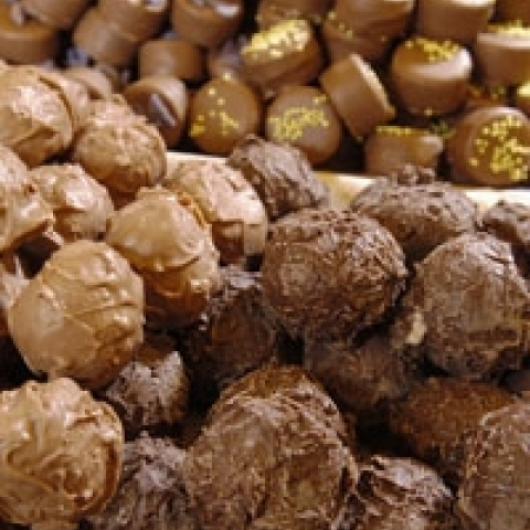 Fine chocolate candies Alba Italy