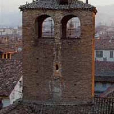 The Cathedral bell tower Alba Italy