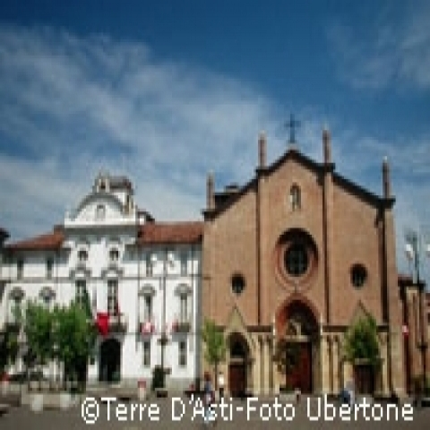 City hall and San Secondo Church Asti Italy
