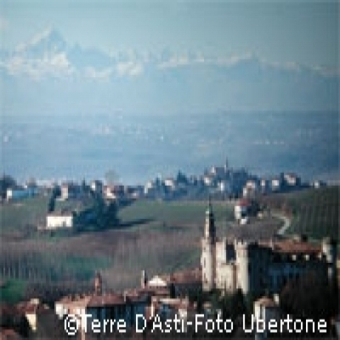 View on Asti surroundings Italy