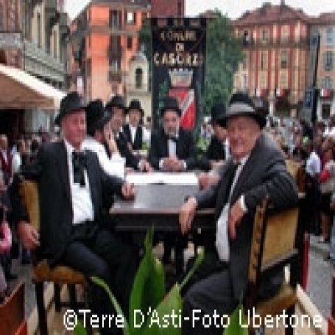 A coffee in the main square in Asti Italy