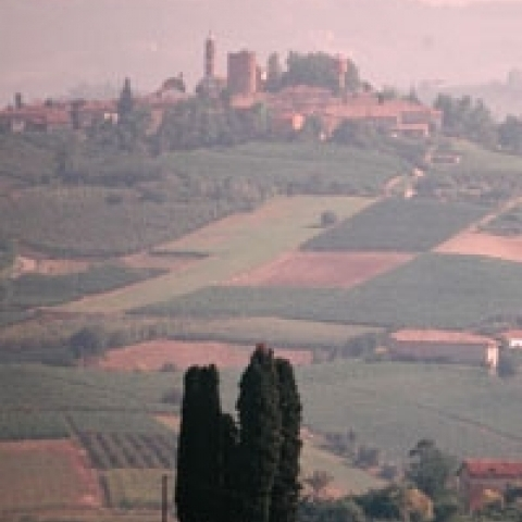 The Langhe region Asti Piedmont Italy