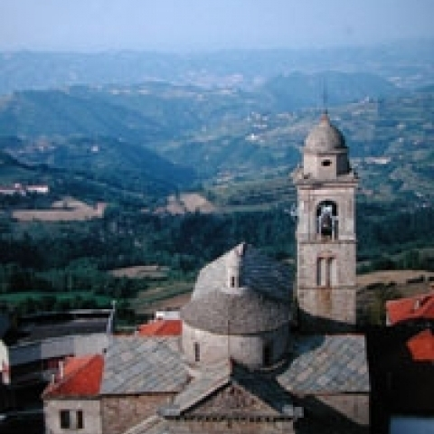 View from the town of Asti Italy