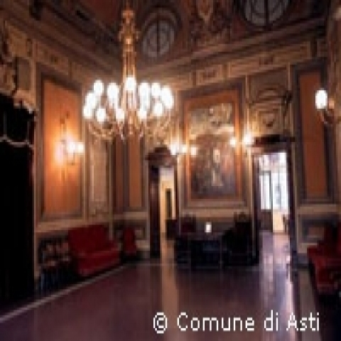 The interior of Asti Town hall Italy