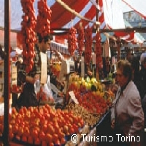 Weekly market in Turin Italy