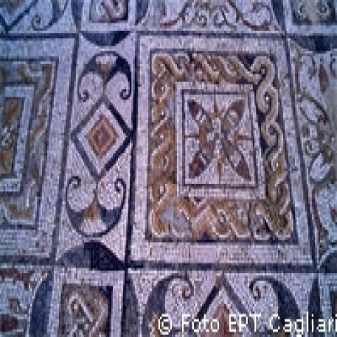 Beautiful mosaics in Nora sardinia Italy