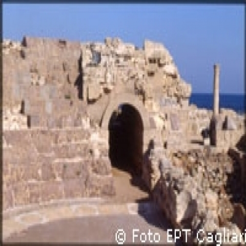 Nora archeological site Sardinia Italy