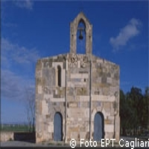 Ancient little church of San Platano Sardinia Italy