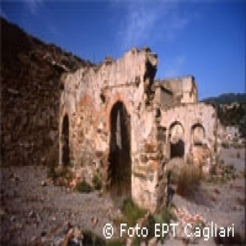 Ancient ruins in Nora nearby Cagliari Italy