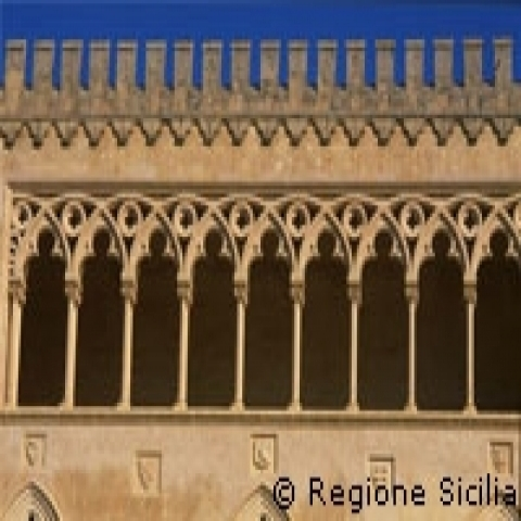 The Castle of Donnafugata detail Ragusa Sicily Italy