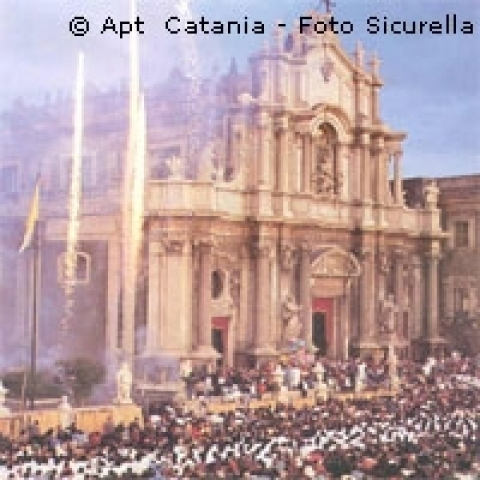 The Cathedral of Catania Sicily Italy