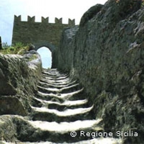 Sperlinga Castle in Enna Sicily Italy