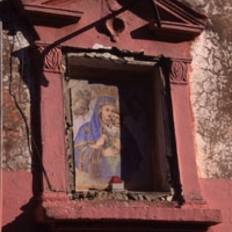 Roadside shrine in Procida Sicily Italy