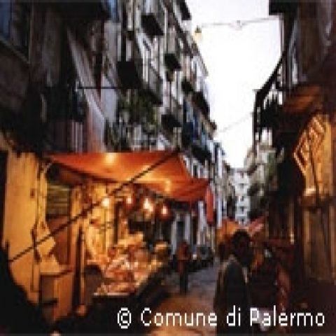 Weekly market in Palermo Sicily Italy