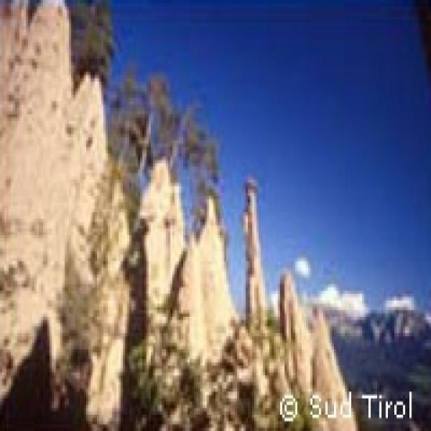 Earth pyramids of Renon in Trentino Alto Adige Italy