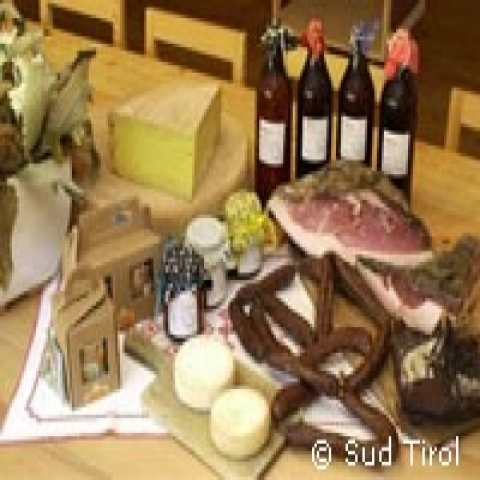 Typical Speck and cheeses from Trentino Alto Adige Italy