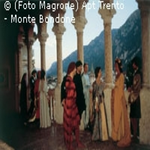 A historical pageant in Trento Trentino Alto Adige Italy