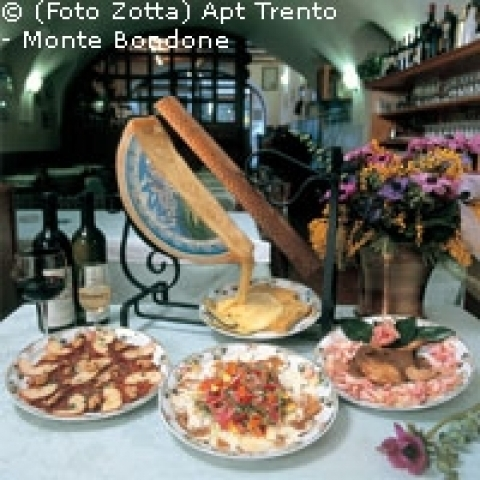 Typical cheeses from Trentino Alto Adige Italy