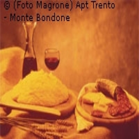 Polenta and cold cuts from Trentino Alto Adige Italy