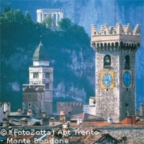 A view of Trento towers Italy