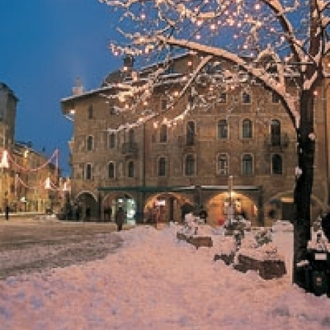 A view of Trento in Winter Italy