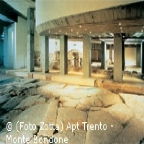 Archeological Roman finds in Trento Italy