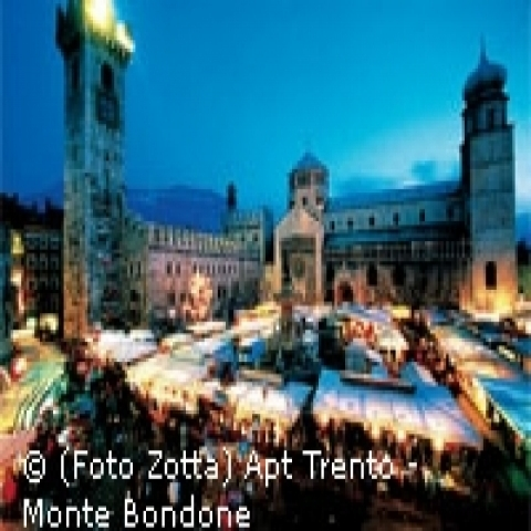 The Christmas market in Trento Italy