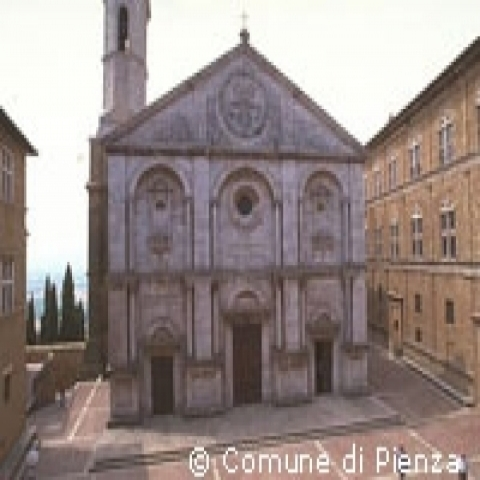 Pienza Cathedral in Tuscany Italy
