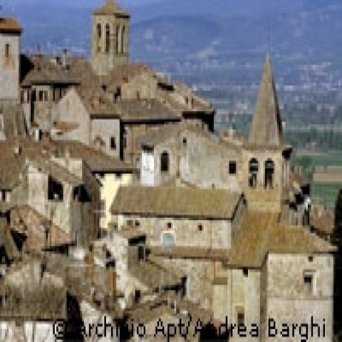 A glimpse of Anghiari in Tuscany Italy