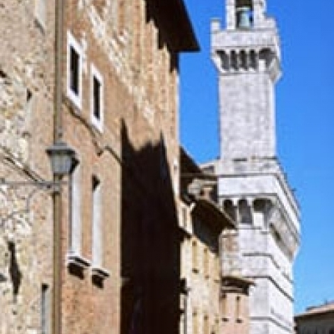 Municipal tower of Montepulciano Tuscany Italy
