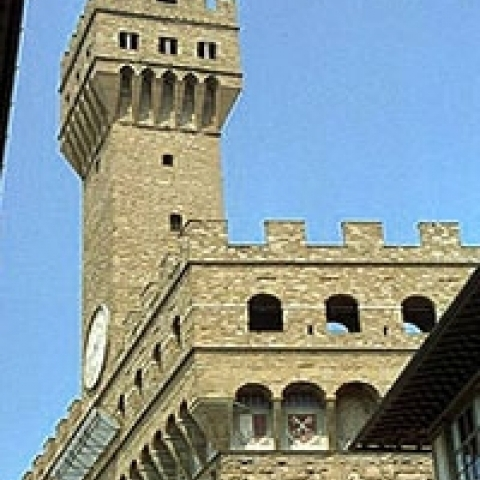 Palazzo Vecchio tower in Florence Tuscany Italy