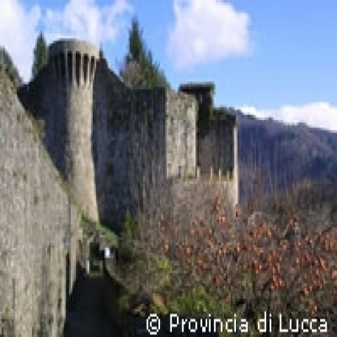 Medieval Castle near Lucca Tuscany Italy