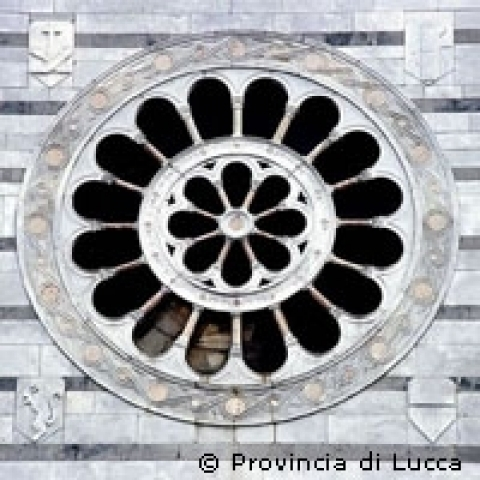 Detail of Saint Francis church in Lucca Tuscany Italy