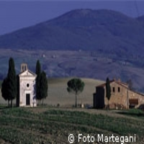 San Quirico D'Orcia landscape in Tuscany Italy