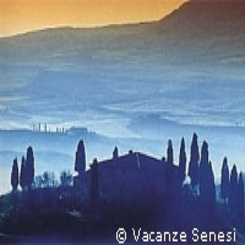 A beautiful view of Val D'Orcia in Tuscany Italy