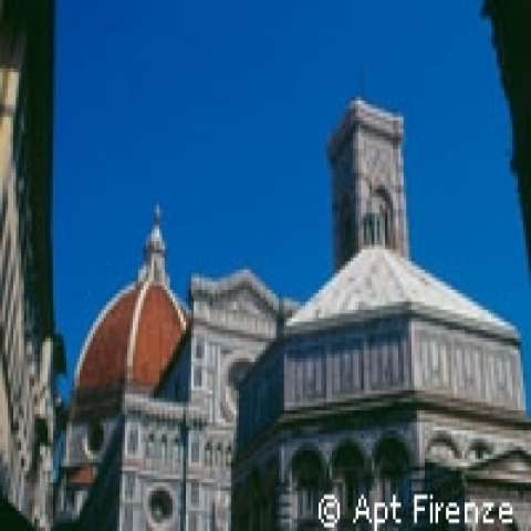 Florence Cathedral and the Baptistery Italy